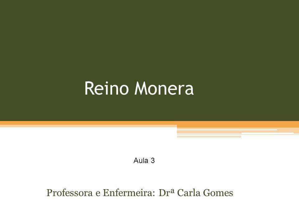 Reino Monera Professora e Enfermeira: Drª Carla Gomes Aula 3