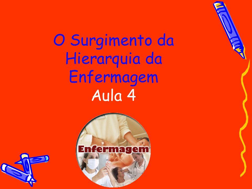 O Surgimento da Hierarquia da Enfermagem Aula 4