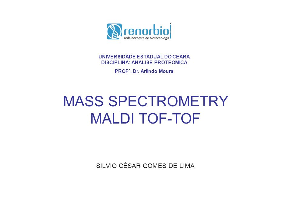 An example of protein sequencing using a MALDI- TOF-TOF mass spectrometer.