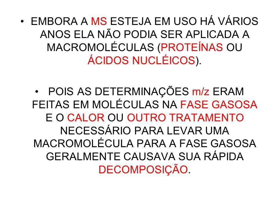 NOBEL DE QUÍMICA (2002) JOHN FENN, DA UNIVERSIDADE VIRGINIAN COMMONWEALTH, DE RICHMOND; KOICHI TANAKA, DA SHIMADZU CORP., EM KYOTO, FORAM PREMIADOS POR TEREM INVENTADO E DESENVOLVIDO A ESPECTROMETRIA DE MASSAS.