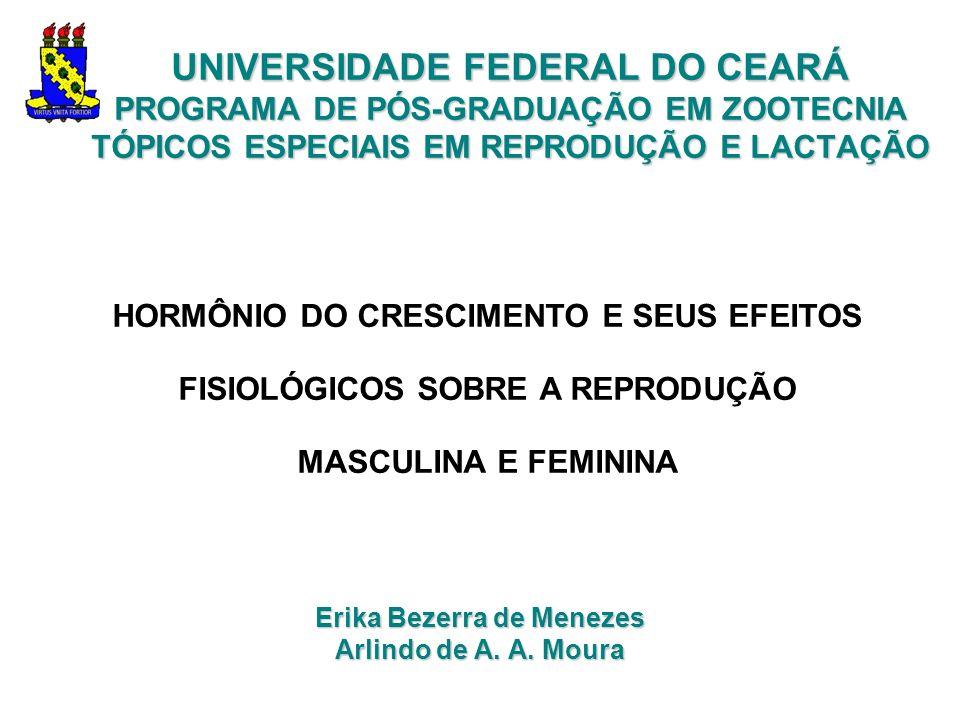 UNIVERSIDADE FEDERAL DO CEARÁ PROGRAMA DE PÓS-GRADUAÇÃO EM ZOOTECNIA TÓPICOS ESPECIAIS EM REPRODUÇÃO E LACTAÇÃO Erika Bezerra de Menezes Arlindo de A.