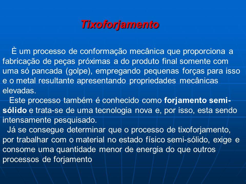 Tixoforjamento È um processo de conformação mecânica que proporciona a fabricação de peças próximas a do produto final somente com uma só pancada (gol