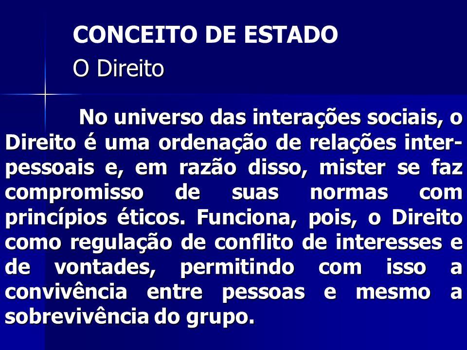 No universo das interações sociais, o Direito é uma ordenação de relações inter- pessoais e, em razão disso, mister se faz compromisso de suas normas