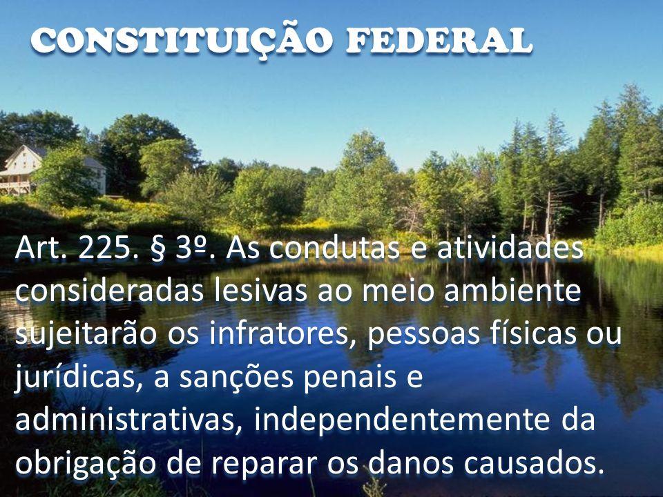 DESTINAÇÃO DOS RECURSOS Art.73 da Lei No. 9.605/98.