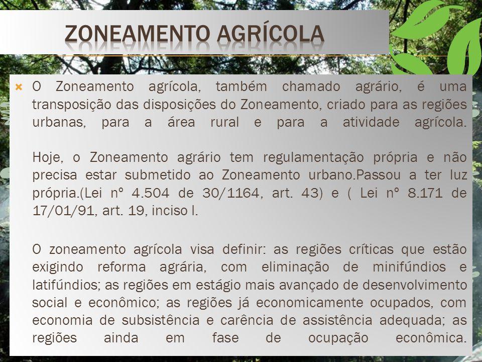 Com o propósito de assegurar a preservação dos parques Públicos (Decreto 84.017;79), art. 9°, tornou- se possível o zoneamento de acordo com suas próp