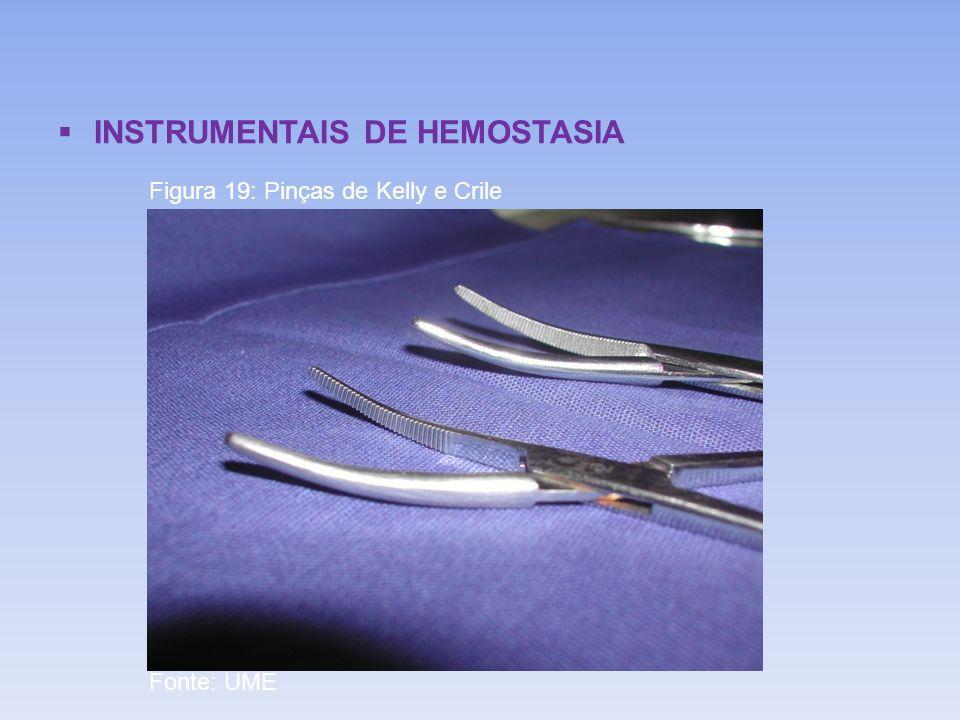 INSTRUMENTAIS DE HEMOSTASIA Figura 19: Pinças de Kelly e Crile Fonte: UME
