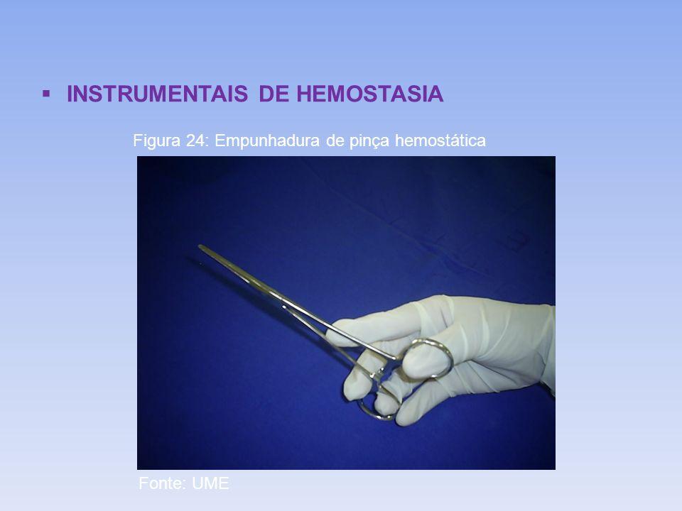 INSTRUMENTAIS DE HEMOSTASIA Figura 24: Empunhadura de pinça hemostática Fonte: UME