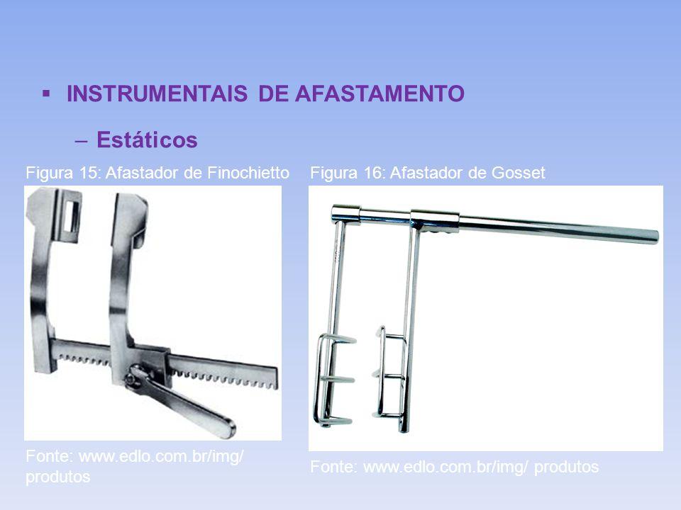 INSTRUMENTAIS DE AFASTAMENTO –Estáticos Figura 15: Afastador de FinochiettoFigura 16: Afastador de Gosset Fonte: www.edlo.com.br/img/ produtos