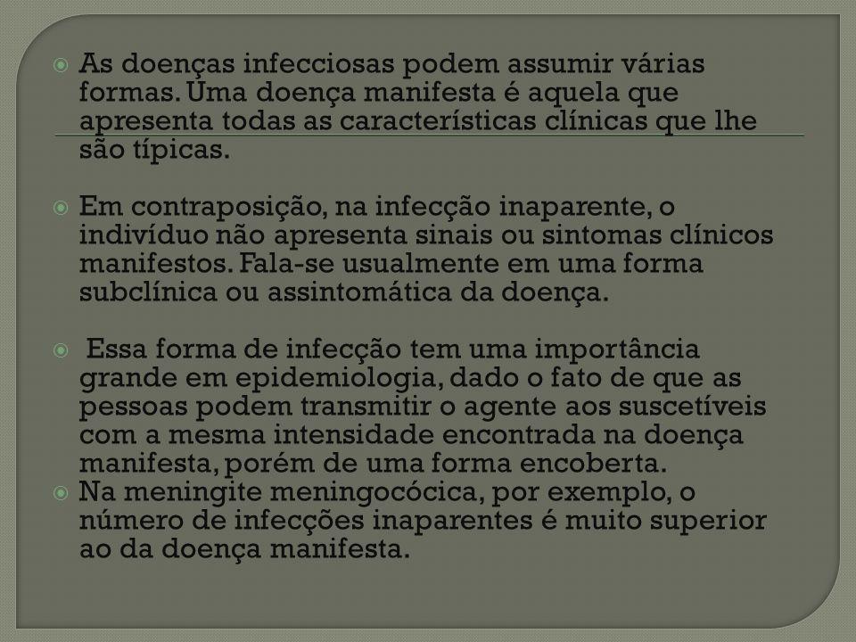 Uma doença sob forma latente representa um período de equilíbrio durante o qual não existem sinais clínicos manifestos da doença e o doente ainda não constitui fonte de contágio.