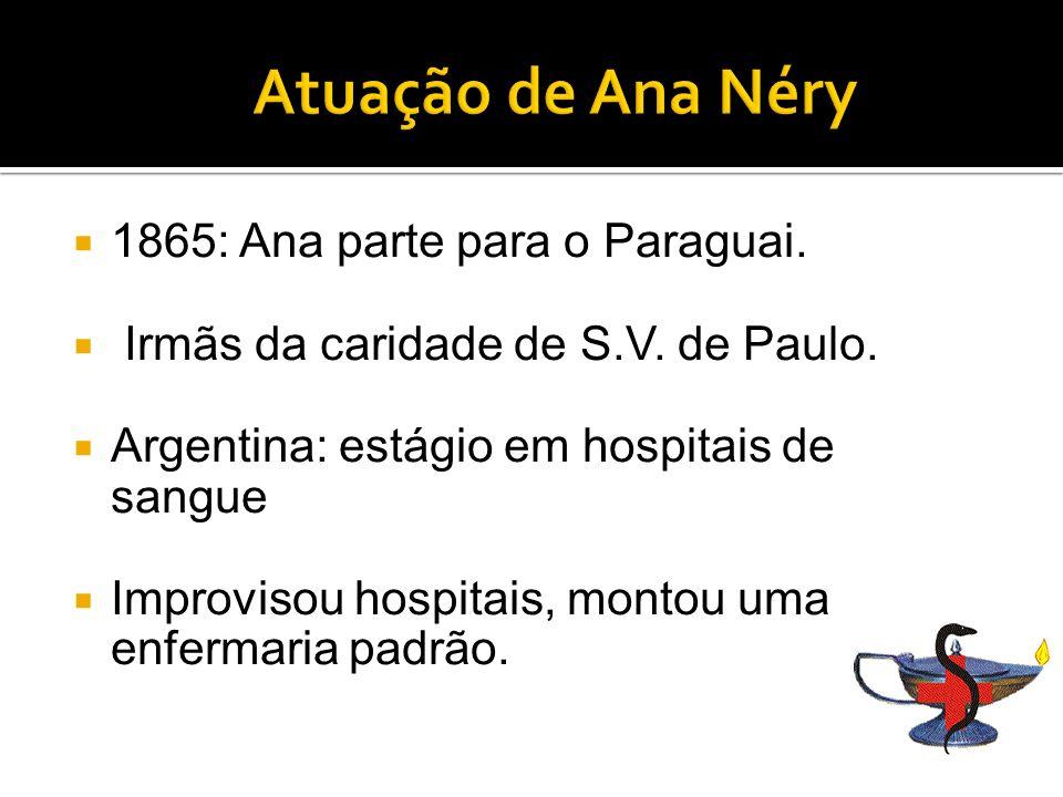 1865: Ana parte para o Paraguai.Irmãs da caridade de S.V.