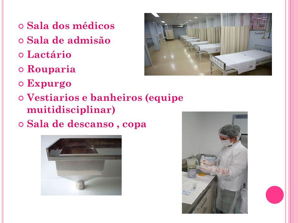 A RÉ A /SALA PARA REANIMAÇÃO DE RN Área física com localização de fácil acesso Sistema de assistência respiratória de parede Mobiliário e outros elementos constituídos de material de fácil limpeza e desinfecção.