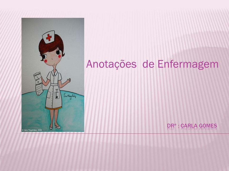 Consiste nos registros realizados pela equipe de enfermagem, em impresso próprio, a respeito dos cuidados prestados ao paciente.