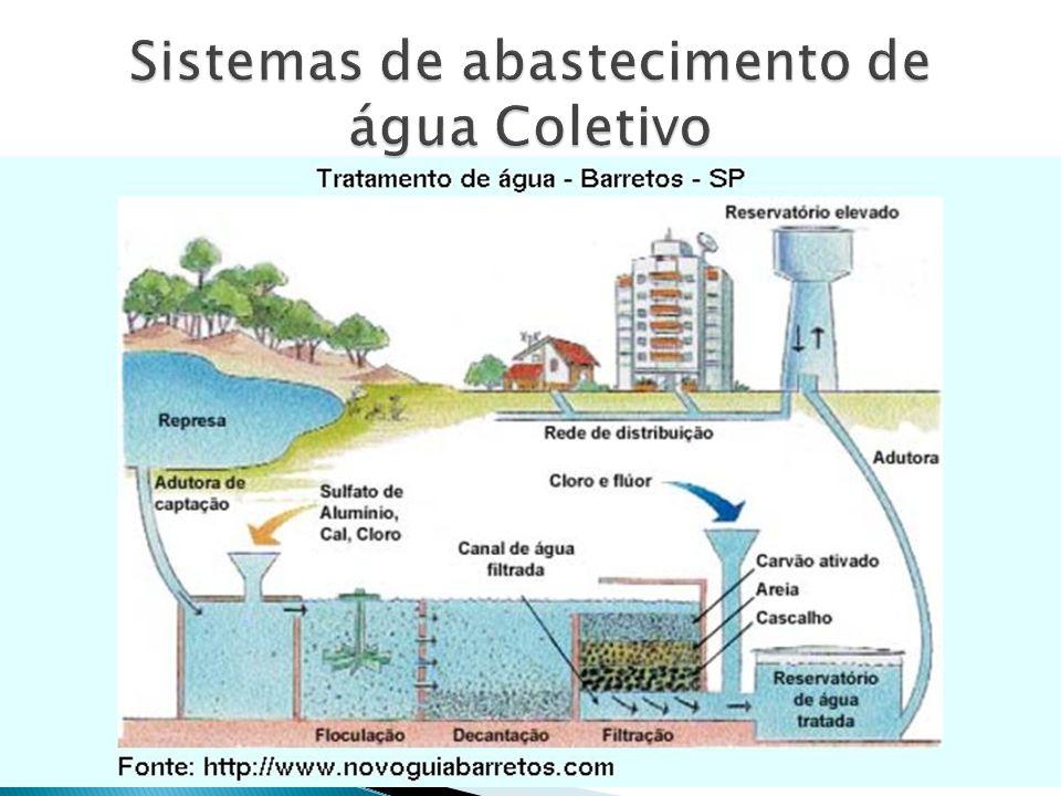 A primeira, de grande importância, é a captação da água, em rios, lagos, represas, lagoas, etc.