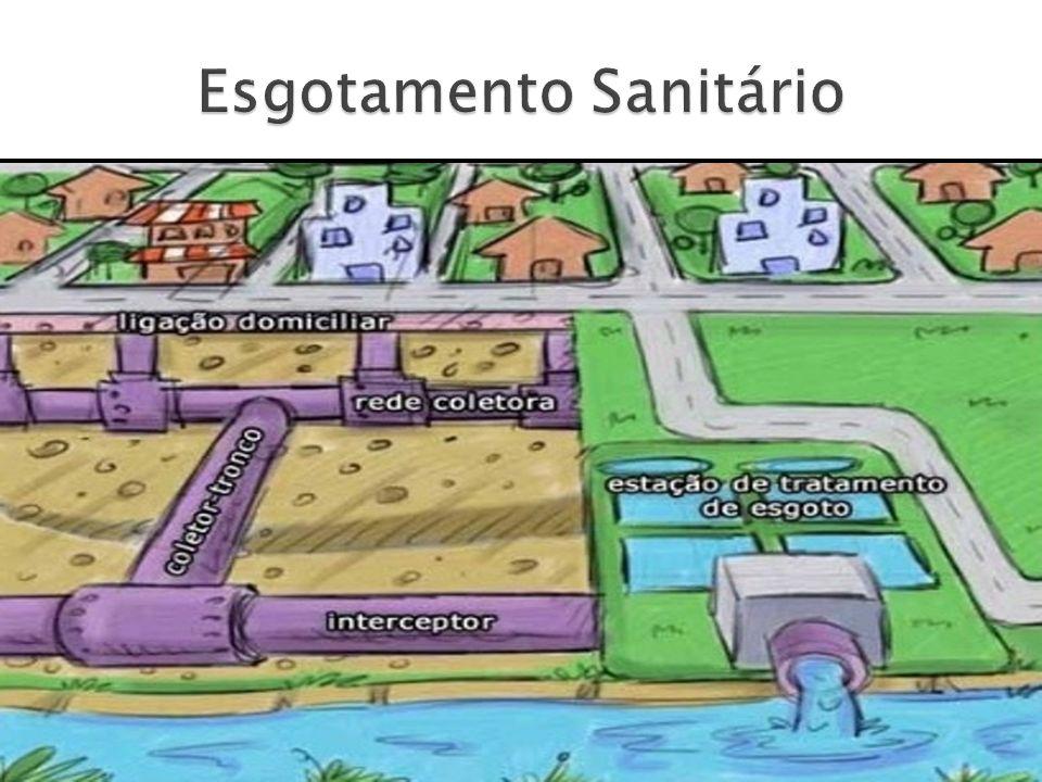 A construção do sistema público de esgotamento sanitário tem como objetivos: a coleta do esgoto individual ou coletivo; o transporte e afastamento rápido e seguro do esgoto.