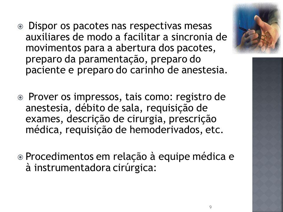 Ajudar o anestesiologista a manter a permeabilidade das vias aéreas superiores.
