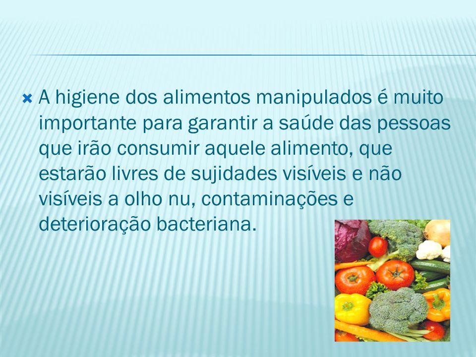 Existem quatro fatores essenciais que devem ser observados durante a manipulação e preparação dos alimentos.