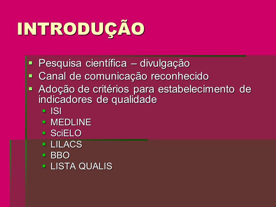 CONCLUSÕES Um número bem reduzido de revistas brasileiras e latino-americanas atendem aos requisitos necessários para indexação em SciELO Um número bem reduzido de revistas brasileiras e latino-americanas atendem aos requisitos necessários para indexação em SciELO