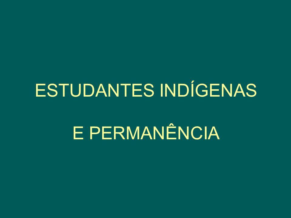 ESTUDANTES INDÍGENAS E PERMANÊNCIA
