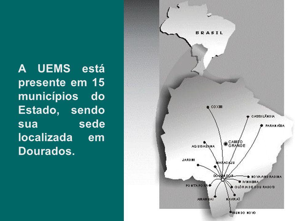 A UEMS está presente em 15 municípios do Estado, sendo sua sede localizada em Dourados.