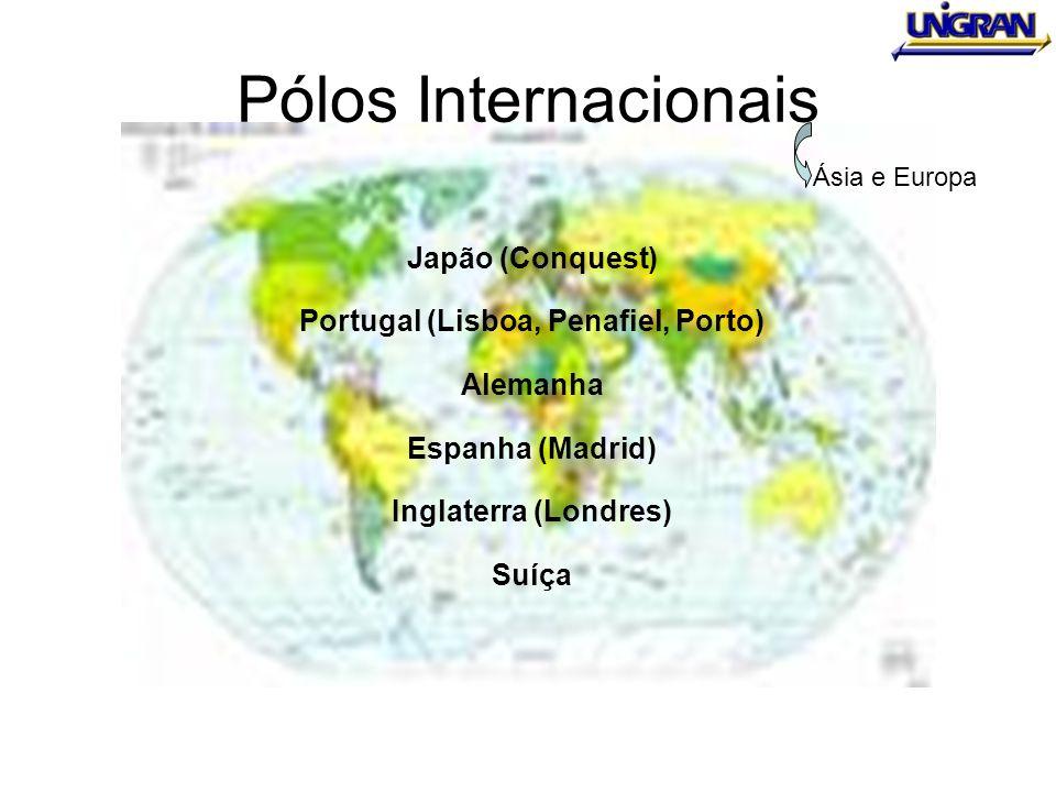 Pólos Internacionais Japão (Conquest) Portugal (Lisboa, Penafiel, Porto) Alemanha Espanha (Madrid) Inglaterra (Londres) Suíça Ásia e Europa