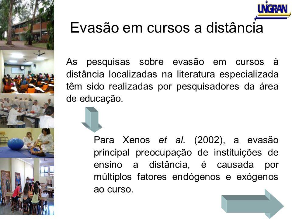 Evasão em cursos a distância As pesquisas sobre evasão em cursos à distância localizadas na literatura especializada têm sido realizadas por pesquisad