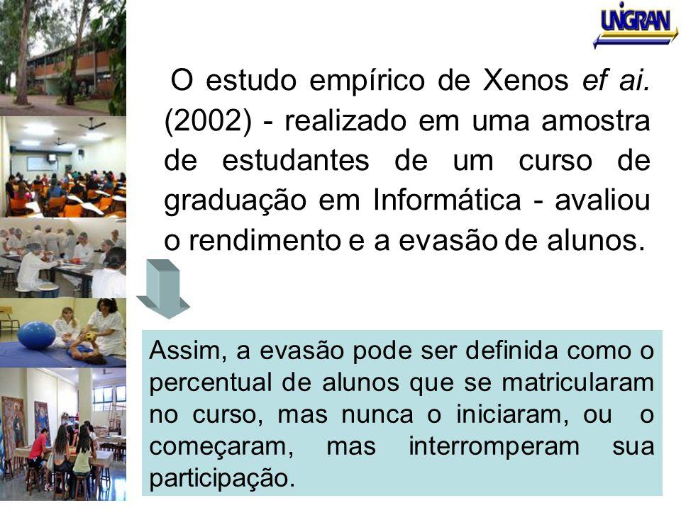 O estudo empírico de Xenos ef ai. (2002) - realizado em uma amostra de estudantes de um curso de graduação em Informática - avaliou o rendimento e a e