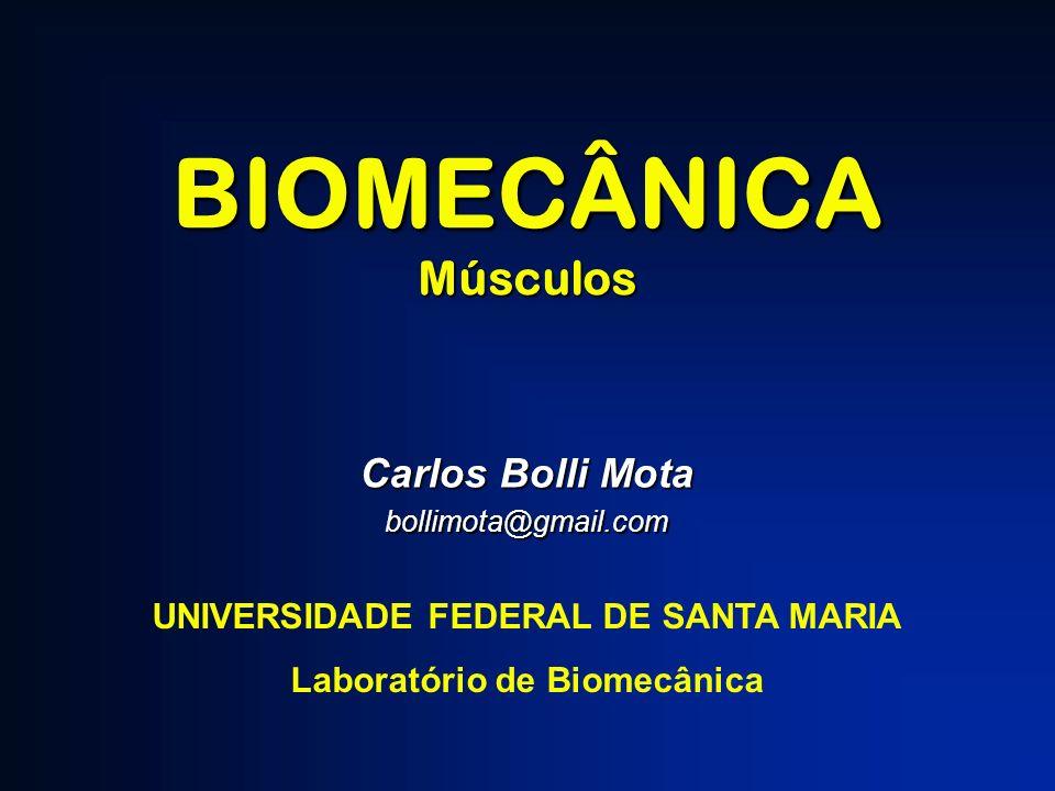 BIOMECÂNICAMúsculos Carlos Bolli Mota bollimota@gmail.com UNIVERSIDADE FEDERAL DE SANTA MARIA Laboratório de Biomecânica