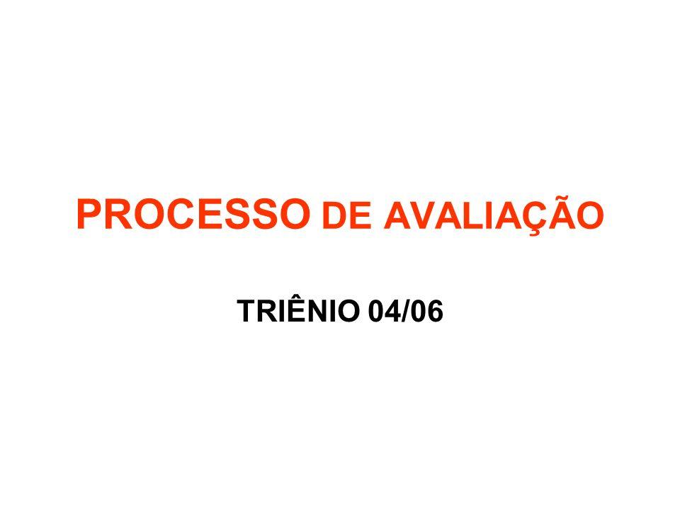 PROCESSO DE AVALIAÇÃO TRIÊNIO 04/06