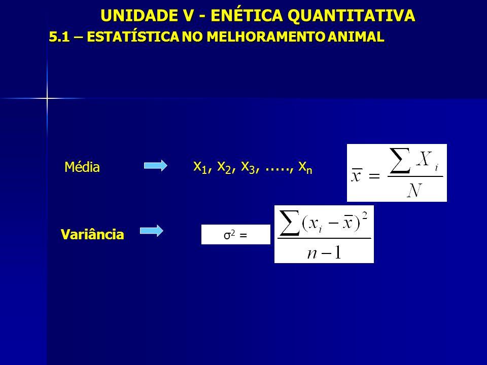 UNIDADE V - GENÉTICA QUANTITATIVA 5.3 - FENÓTIPO COMO EXPRESSÃO DO GENÓTIPO E DO MEIO AMBIENTE P = G + M P = G + M