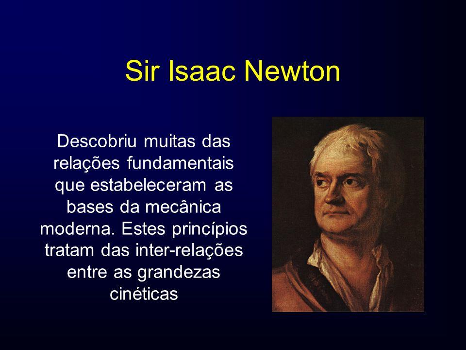 Sir Isaac Newton Descobriu muitas das relações fundamentais que estabeleceram as bases da mecânica moderna. Estes princípios tratam das inter-relações