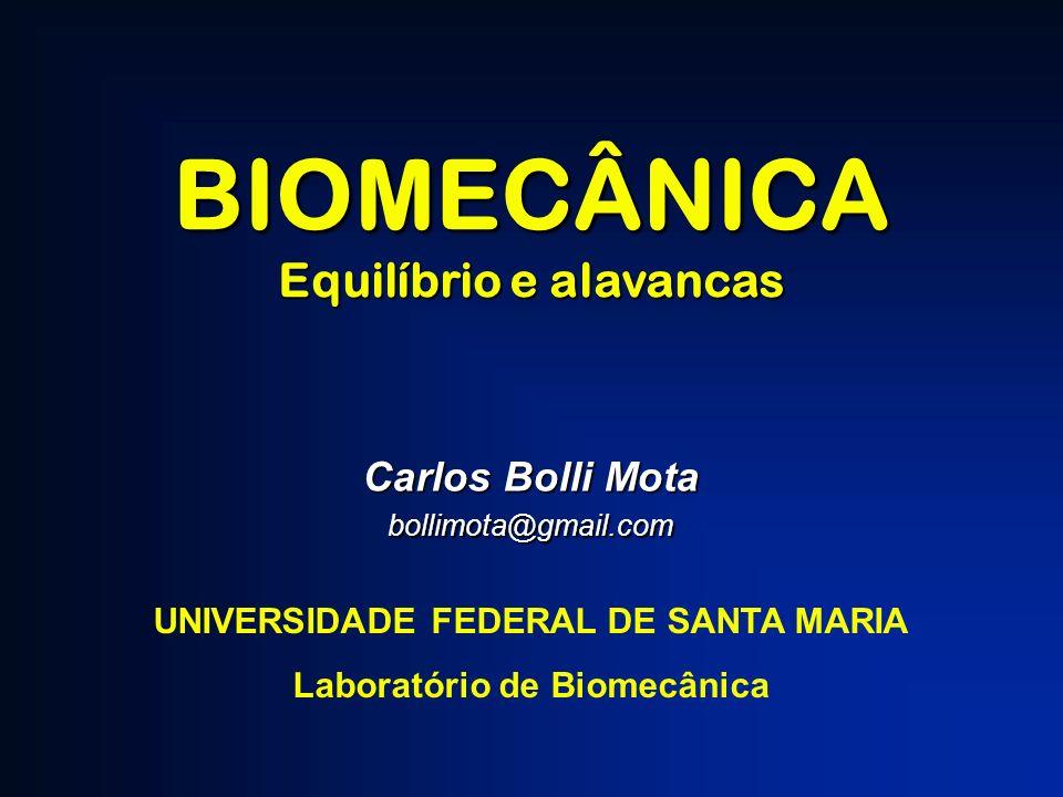 BIOMECÂNICA Equilíbrio e alavancas Carlos Bolli Mota bollimota@gmail.com UNIVERSIDADE FEDERAL DE SANTA MARIA Laboratório de Biomecânica