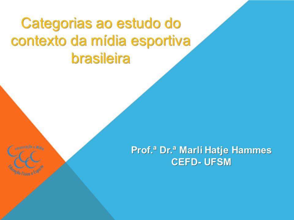 Categorias ao estudo do contexto da mídia esportiva brasileira Prof.ª Dr.ª Marli Hatje Hammes CEFD- UFSM