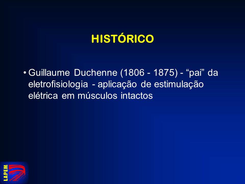HISTÓRICO Duchenne - estimulação de músculos da face
