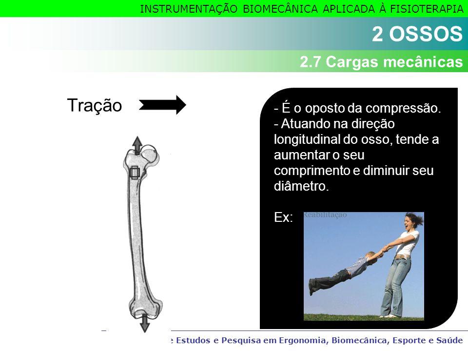 Grupo de Estudos e Pesquisa em Ergonomia, Biomecânica, Esporte e Saúde INSTRUMENTAÇÃO BIOMECÂNICA APLICADA À FISIOTERAPIA Tração - É o oposto da compr