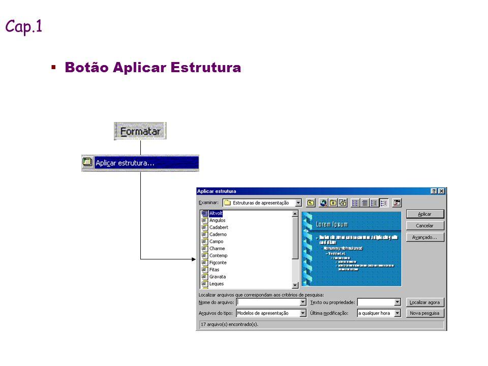 Botão Aplicar Estrutura Cap.1