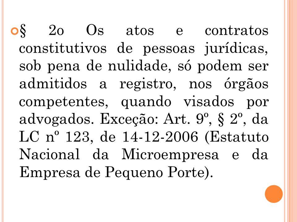 II – as atividades de consultoria, assessoria e direção jurídicas. Reg. Geral Art. 7º A função de diretoria e gerência jurídicas em qualquer empresa p