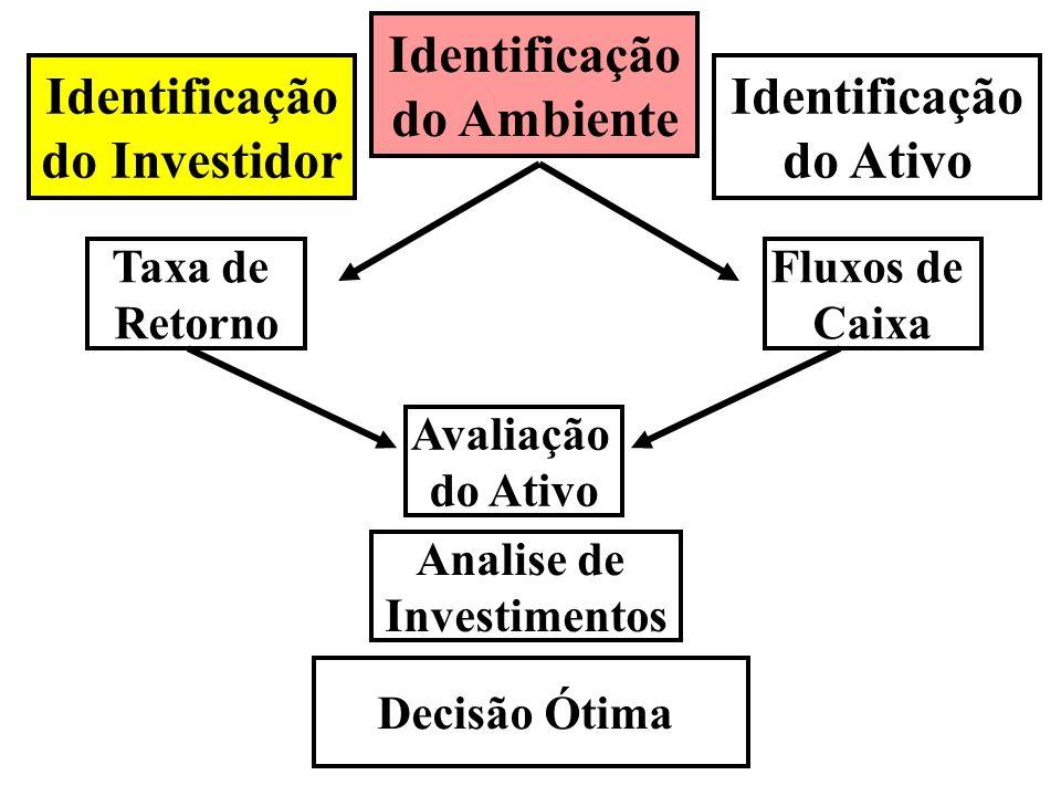 Taxa de Retorno Identificação do Ambiente Fluxos de Caixa Identificação do Ativo Identificação do Investidor Avaliação do Ativo Analise de Investiment