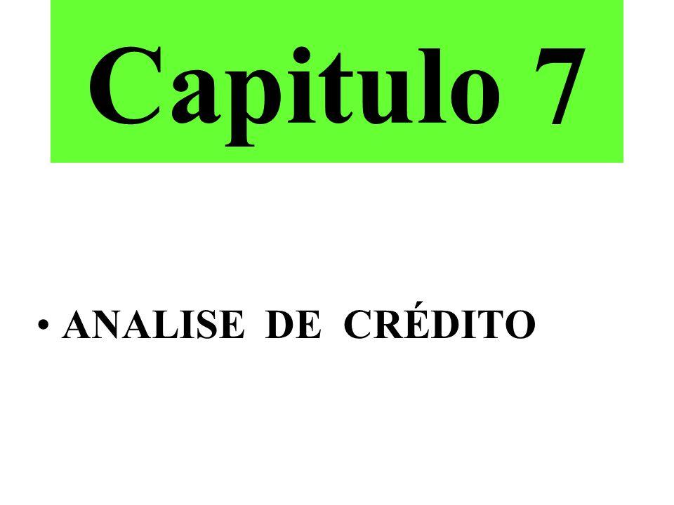 Capitulo 7 ANALISE DE CRÉDITO