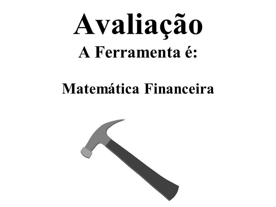 Avaliação A Ferramenta é: Matemática Financeira