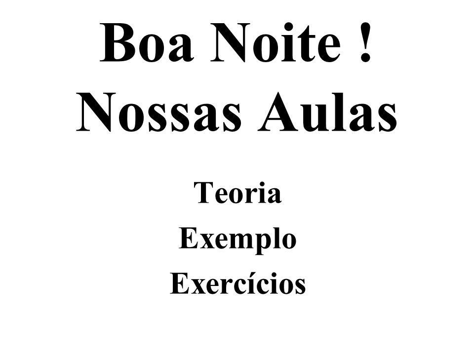 Lista 24 a 27 de Exercícios