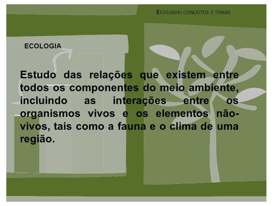 ECOLOGIA X ECONOMIA Eco = CASA Logia = ESTUDO Nomia = ADMINISTRAÇÃO Quem deveria estar em primeiro lugar .