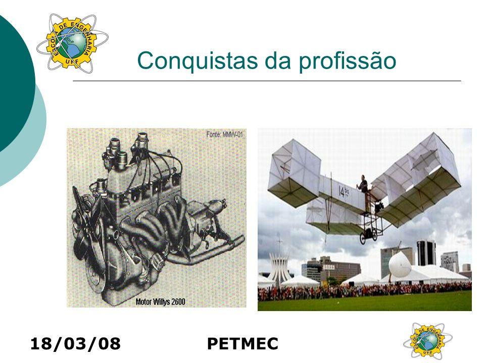 18/03/08PETMEC Conquistas da profissão