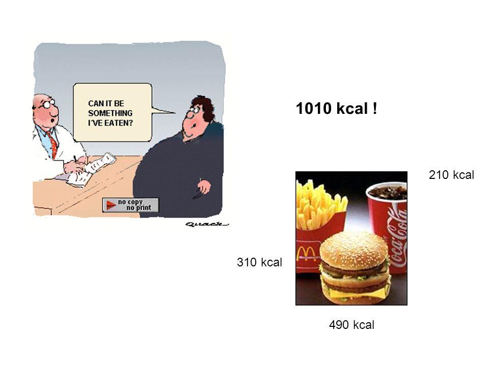 210 kcal 490 kcal 310 kcal 1010 kcal !