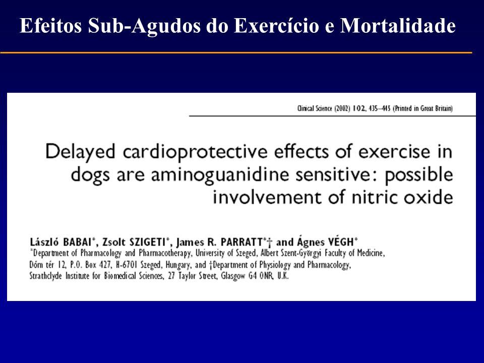 Efeitos Sub-Agudos do Exercício e Mortalidade
