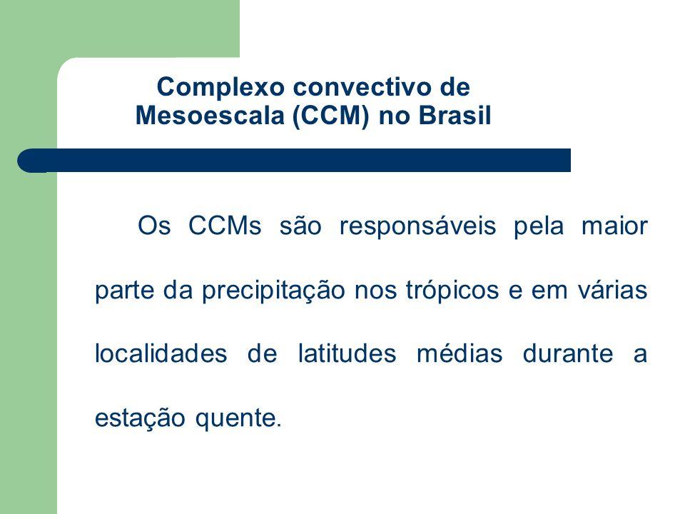 Os CCMs são responsáveis pela maior parte da precipitação nos trópicos e em várias localidades de latitudes médias durante a estação quente. Complexo