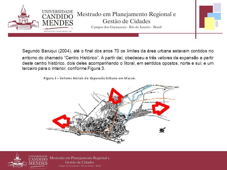 Segundo Baruqui (2004), até o final dos anos 70 os limites da área urbana estavam contidos no entorno do chamado Centro Histórico. A partir daí, obede