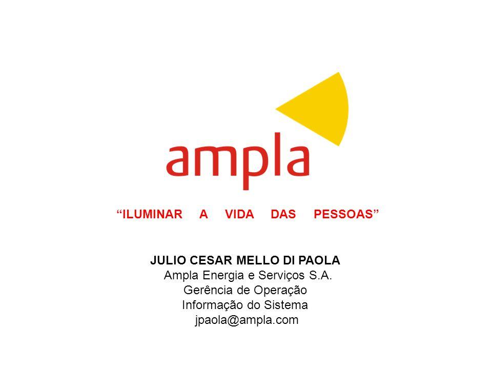 Base Cartográfica da AMPLA e sua utilização.. JULIO CESAR MELLO DI PAOLA Ampla Energia e Serviços S.A. Gerência de Operação Informação do Sistema jpao