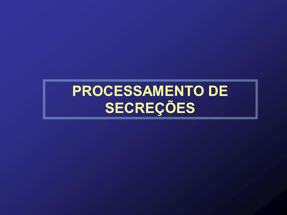 PROCESSAMENTO DE SECREÇÕES
