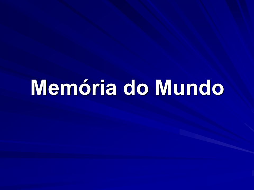 Memória do Mundo