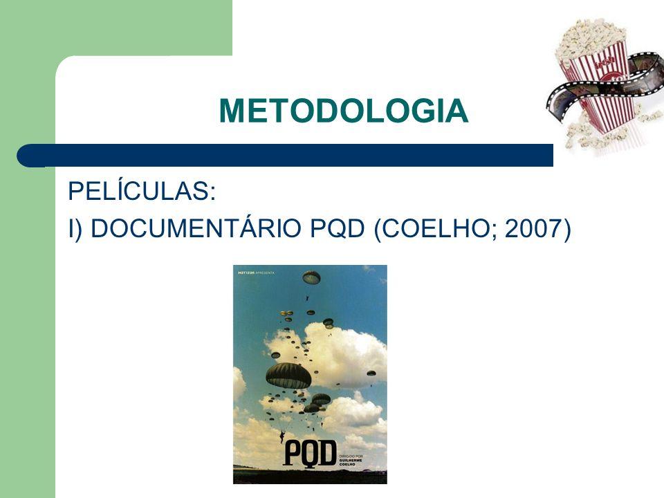 METODOLOGIA PELÍCULAS: I) DOCUMENTÁRIO PQD (COELHO; 2007)